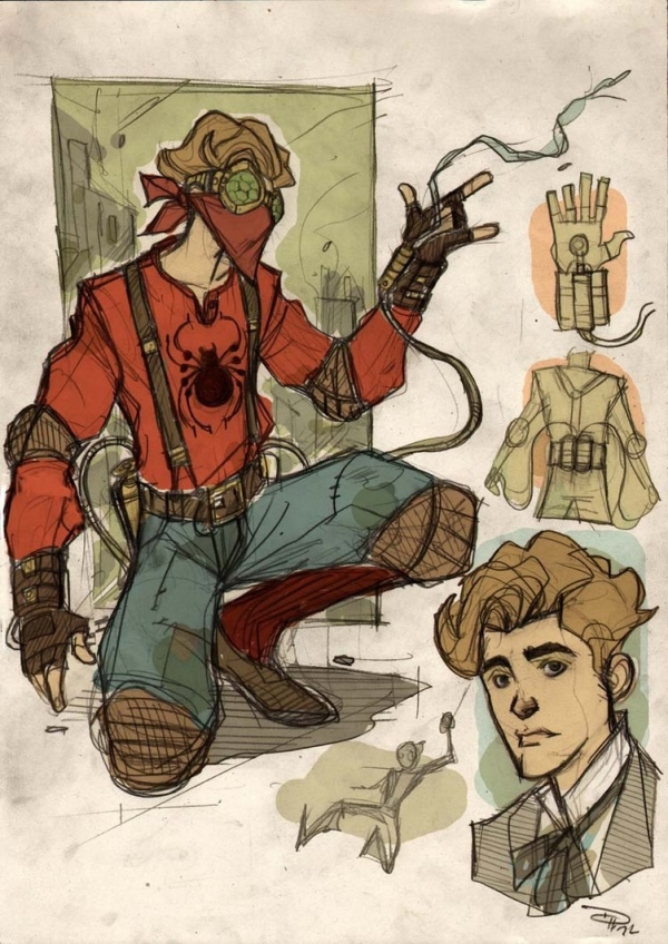 Steampunk SpiderMan от Denis Medri