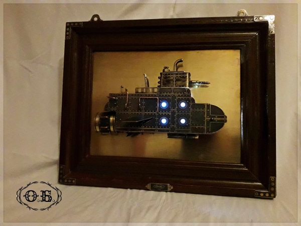 Подводная лодка (панно в стиле Стимпанк)