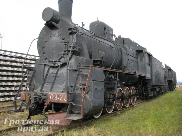 В городе Лида реконструируют уникальный экспонат – угольный паровоз.