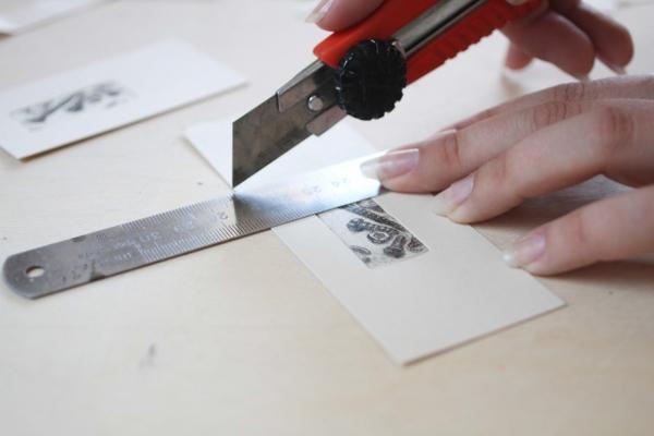 Высушенный отпечатанный офорт