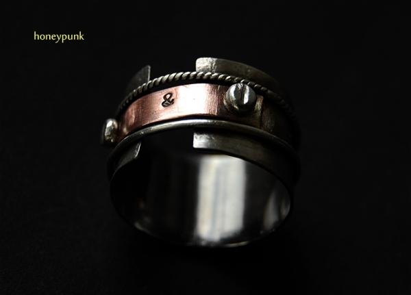 Кольцо из серебра и меди