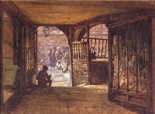 Архитектура старой Англии в акварели. (Фото 21)