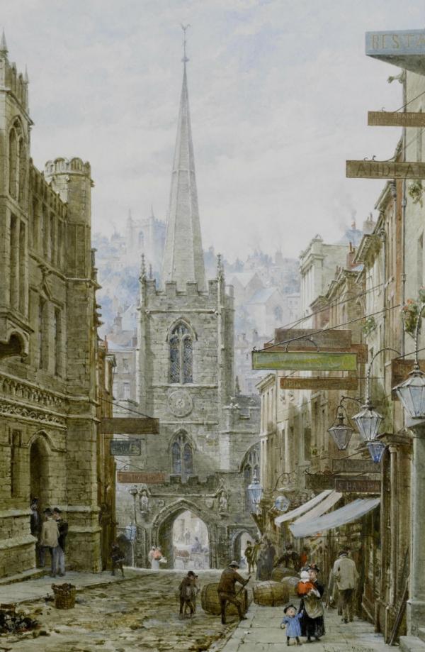 Архитектура старой Англии в акварели. (Фото 9)
