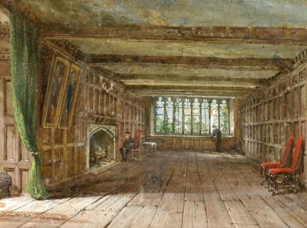 Архитектура старой Англии в акварели. (Фото 18)