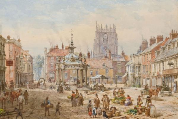 Архитектура старой Англии в акварели. (Фото 11)