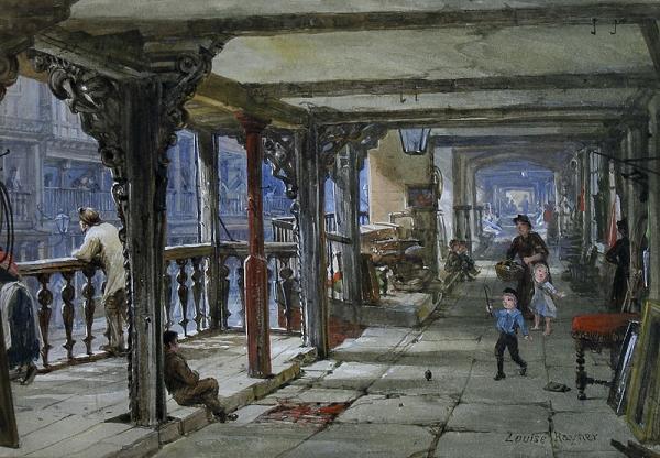 Архитектура старой Англии в акварели. (Фото 17)