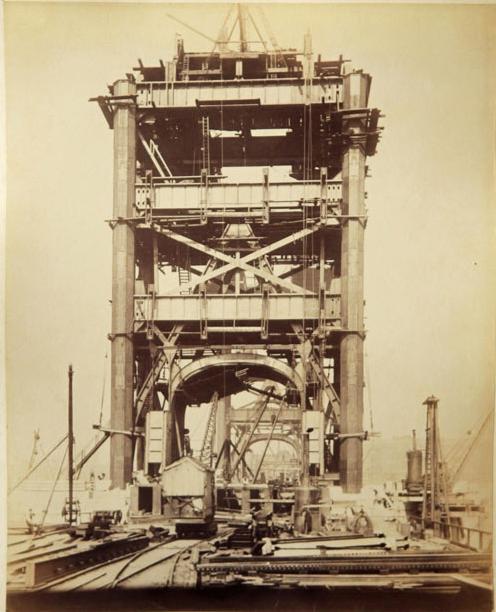 Строительство Тауэрского моста. (Фото 8)
