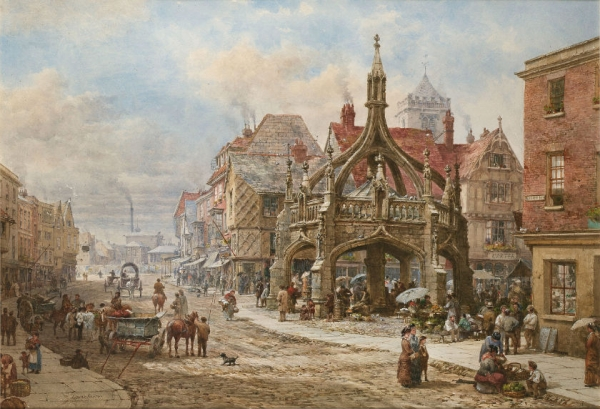 Архитектура старой Англии в акварели. (Фото 15)