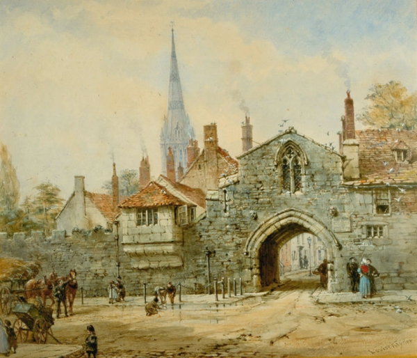 Архитектура старой Англии в акварели. (Фото 16)