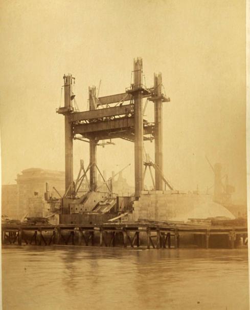 Строительство Тауэрского моста. (Фото 3)