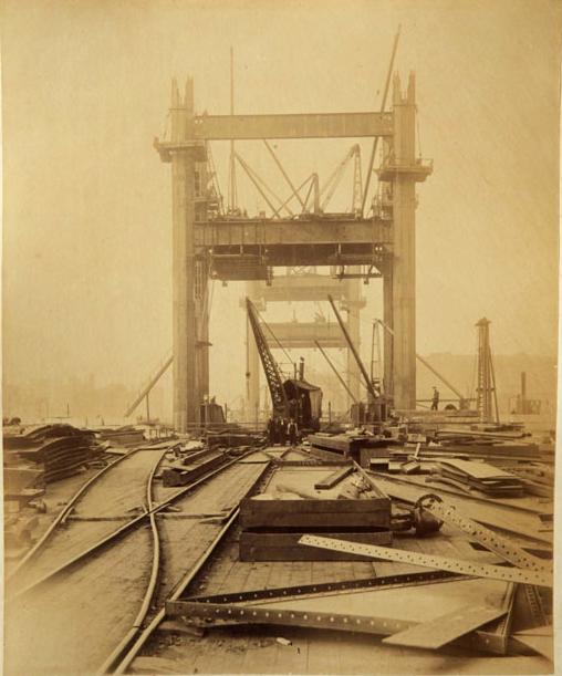 Строительство Тауэрского моста. (Фото 6)