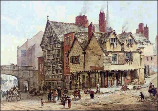 Архитектура старой Англии в акварели. (Фото 20)