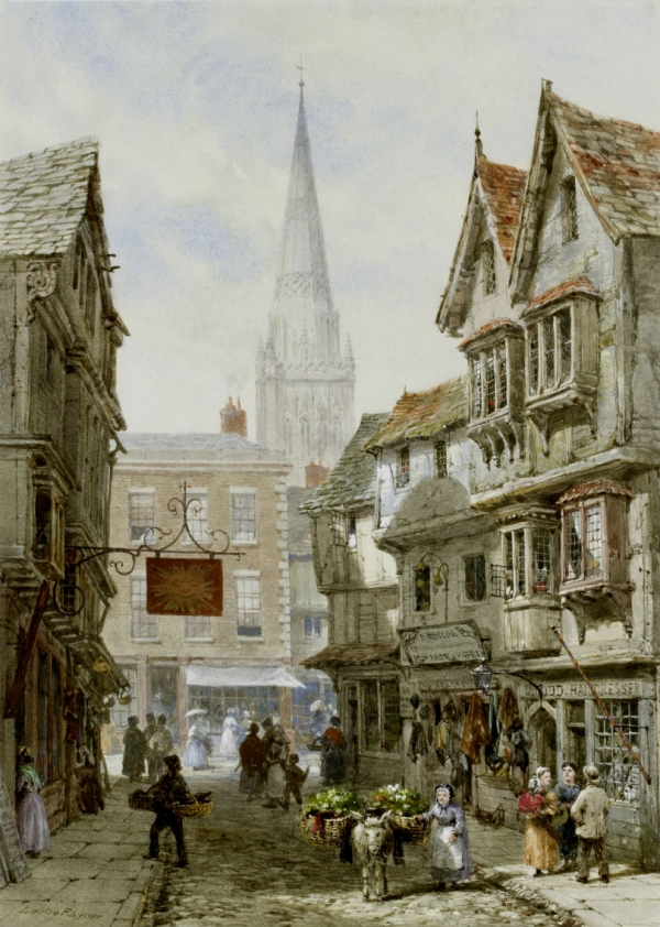 Архитектура старой Англии в акварели. (Фото 13)