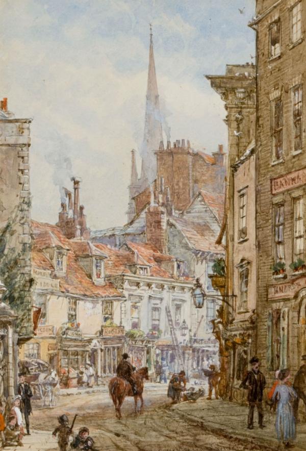 Архитектура старой Англии в акварели. (Фото 12)
