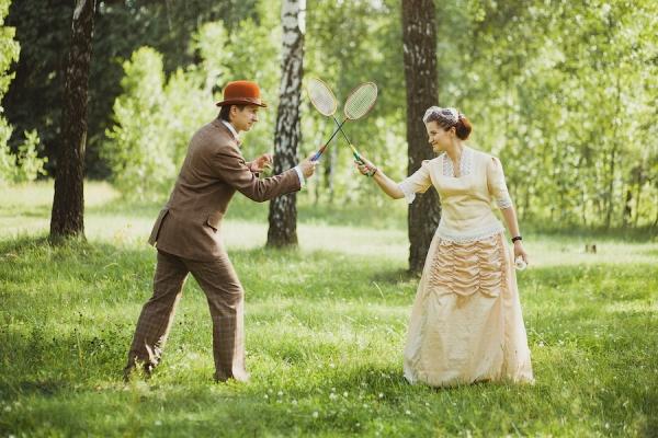 Викторианский аромат - свадебные костюмы (Фото 4)