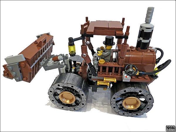 SteamPunk фронтальный погрузчик из LEGO :)