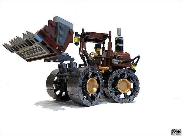 SteamPunk фронтальный погрузчик из LEGO :) (Фото 2)