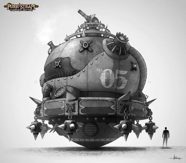 Алехандро Ли, иллюстрации в стиле стимпанк (Фото 10)