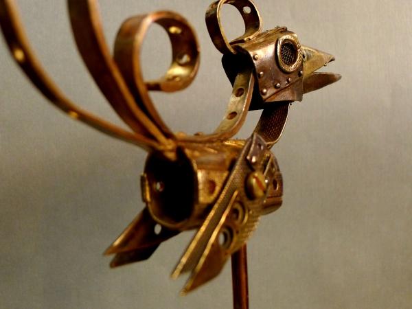Птица Карнопа.Настольное украшение командира бронепоезда Феникс