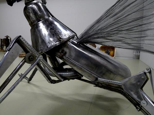 Видеоскульптура Девушка-инсектоид класса AVS -13  в поисках лучшего
