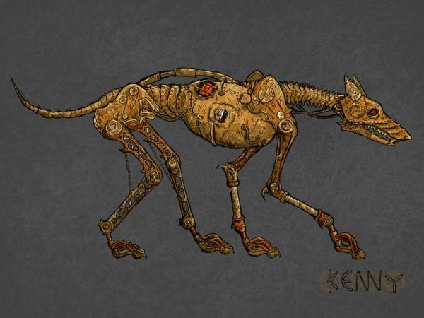 Механический пёс (рисунок)