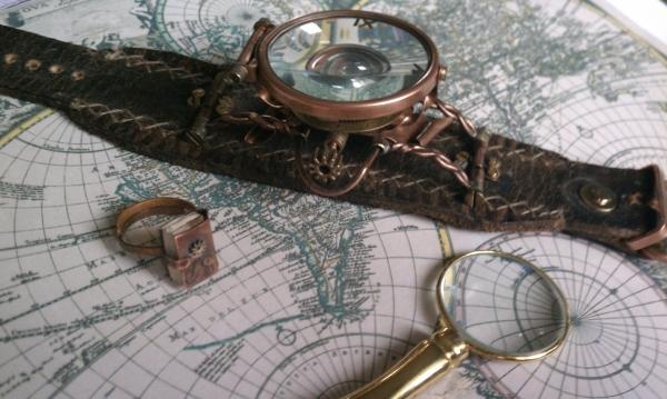 """Стимпанк часы ( steampunk watch )... хронометр """"В поисках потерянного времени""""... вторая попытка ."""