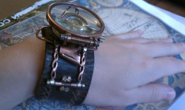 """Стимпанк часы ( steampunk watch )... хронометр """"В поисках потерянного времени""""... вторая попытка . (Фото 6)"""