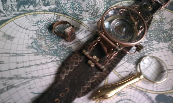 """Стимпанк часы ( steampunk watch )... хронометр """"В поисках потерянного времени""""... вторая попытка . (Фото 3)"""
