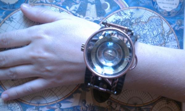 """Стимпанк часы ( steampunk watch )... хронометр """"В поисках потерянного времени""""... вторая попытка . (Фото 5)"""