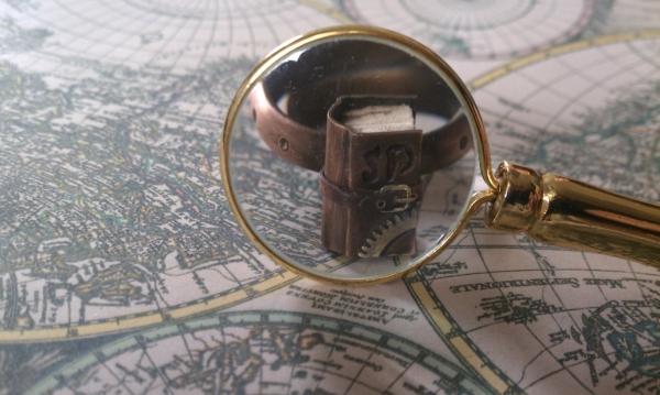 Steampunk кольцо на перчатку одной левой :)))