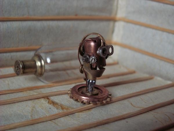 """Steampunk картридер для микро SD... проект """"Извлекающий"""" (Радует нового владельца) (Фото 3)"""