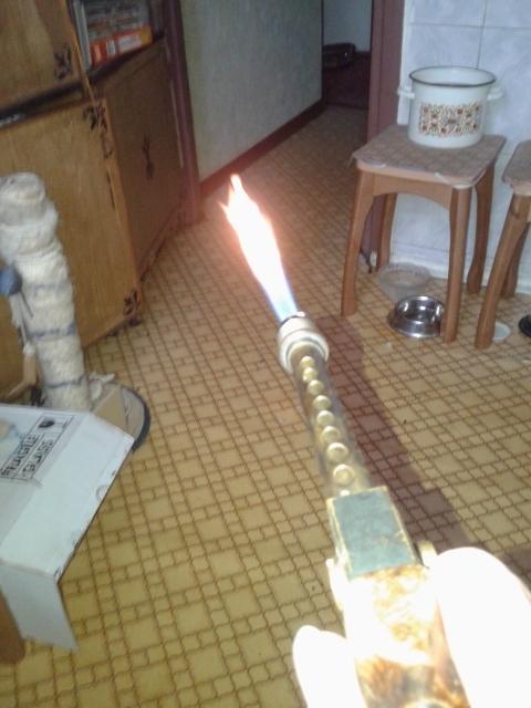 Бензиновая горелка.