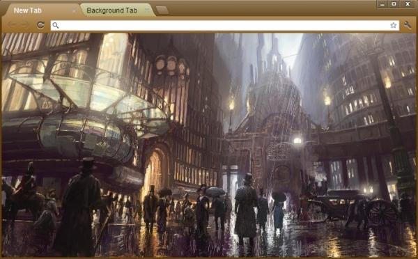 Steampunk - темы для браузера Google Chrome
