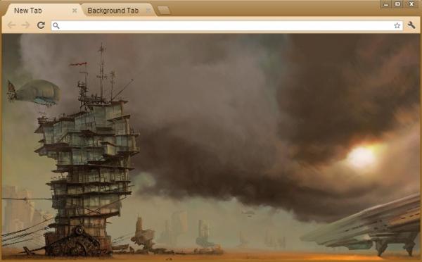 Steampunk - темы для браузера Google Chrome (Фото 2)