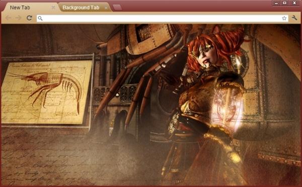 Steampunk - темы для браузера Google Chrome (Фото 3)