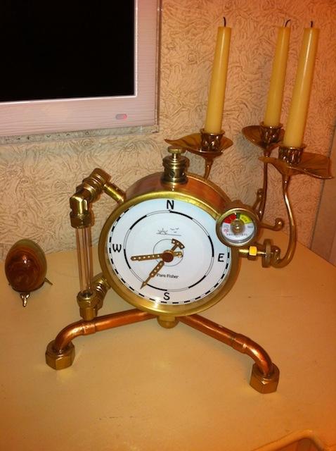 Паро-магнитный часометр барабанного типа