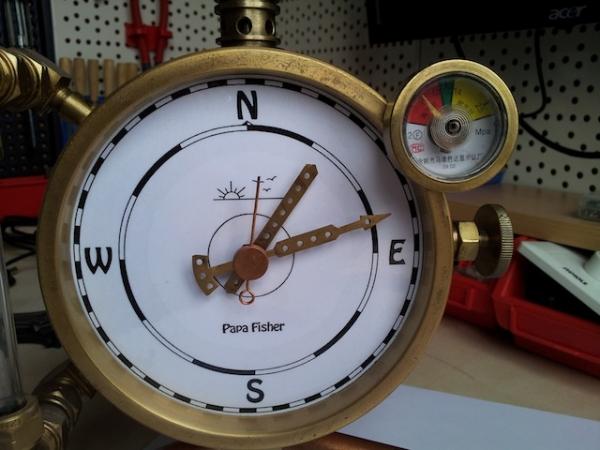Паро-магнитный часометр барабанного типа (Фото 10)