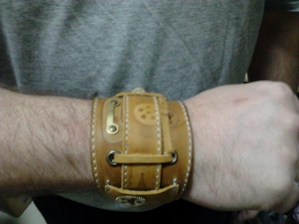 Как из кожи сделать браслет для часов своими руками 8