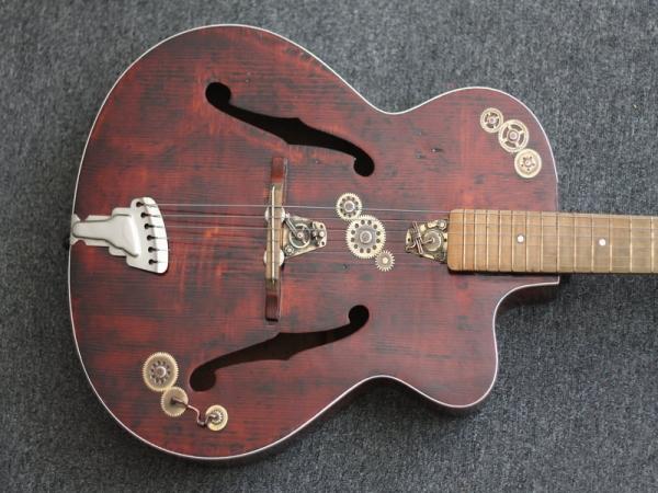 Гитара с элементами стимпанка. (Фото 11)