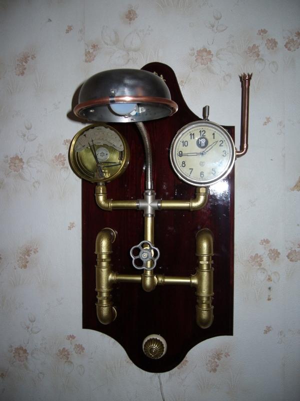 Бра-часы в стиле Steam-punk