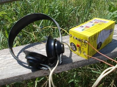 Макет детекторного приемника КВ диапазона