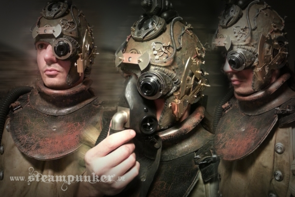 steampunk helmet, mask - steamborg (Фото 4)