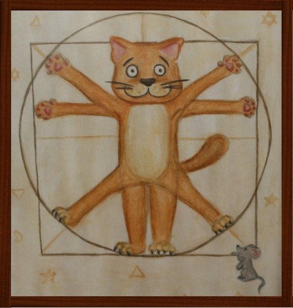Давайте нарисуем кота Да Винчи ?