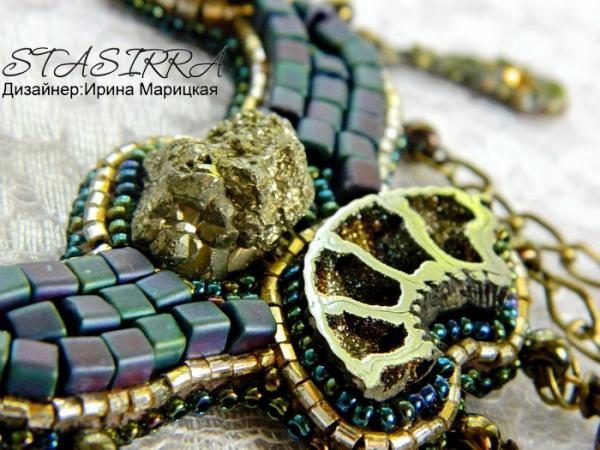 """""""Тайны времени"""" стимпанк колье с росписью (Фото 6)"""