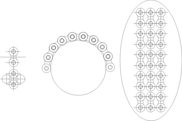 Роликовая приводная цепь
