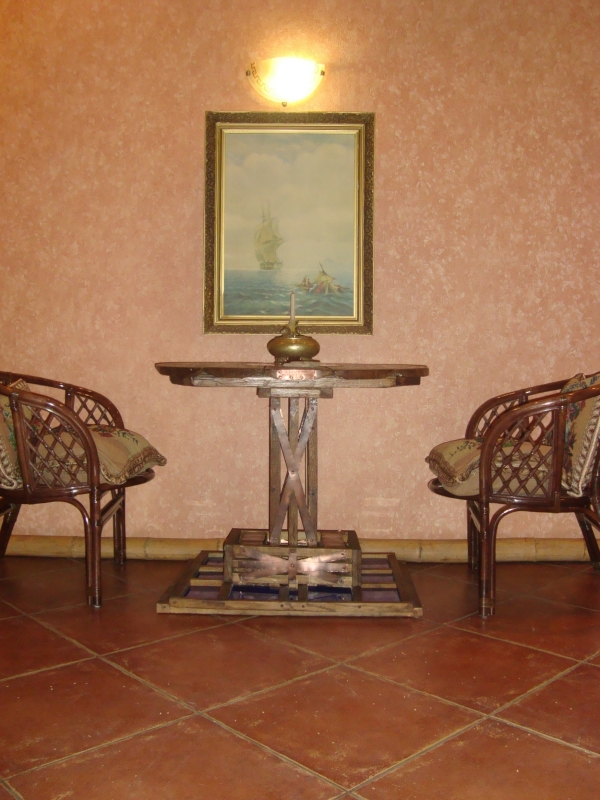 Ломберный стол (для игры в карты) дуб. масло. медь (Фото 2)