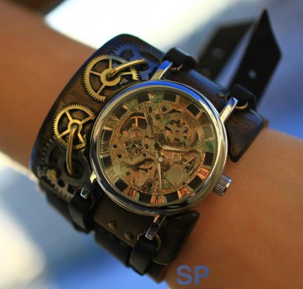 Стимпанковски часы / Steampunk watch (Фото 4)