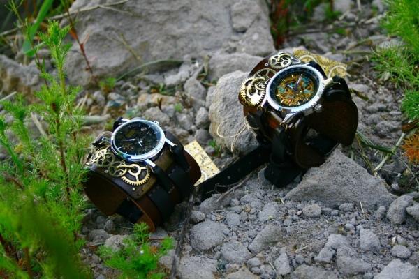 Стимпанковски часы / Steampunk watch (Фото 6)