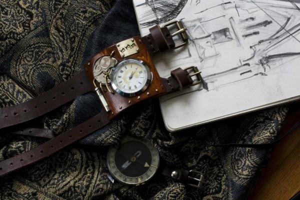 Стимпанковски часы / Steampunk watch (Фото 7)