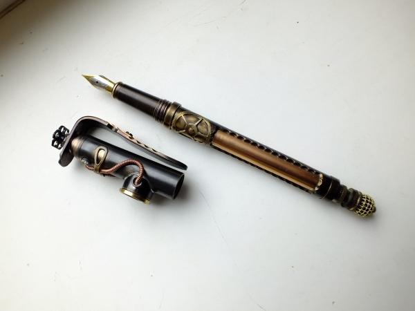 Перьевая ручка стимпанк